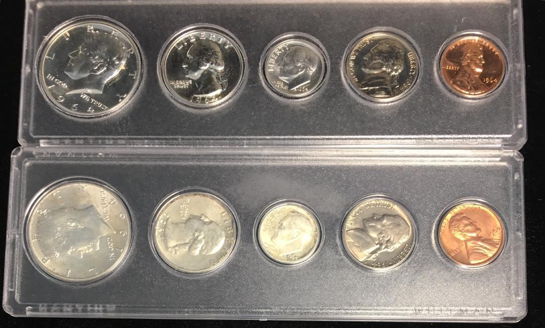 Set of 2 - 1964-P U.S. Proof Sets BU & Proof