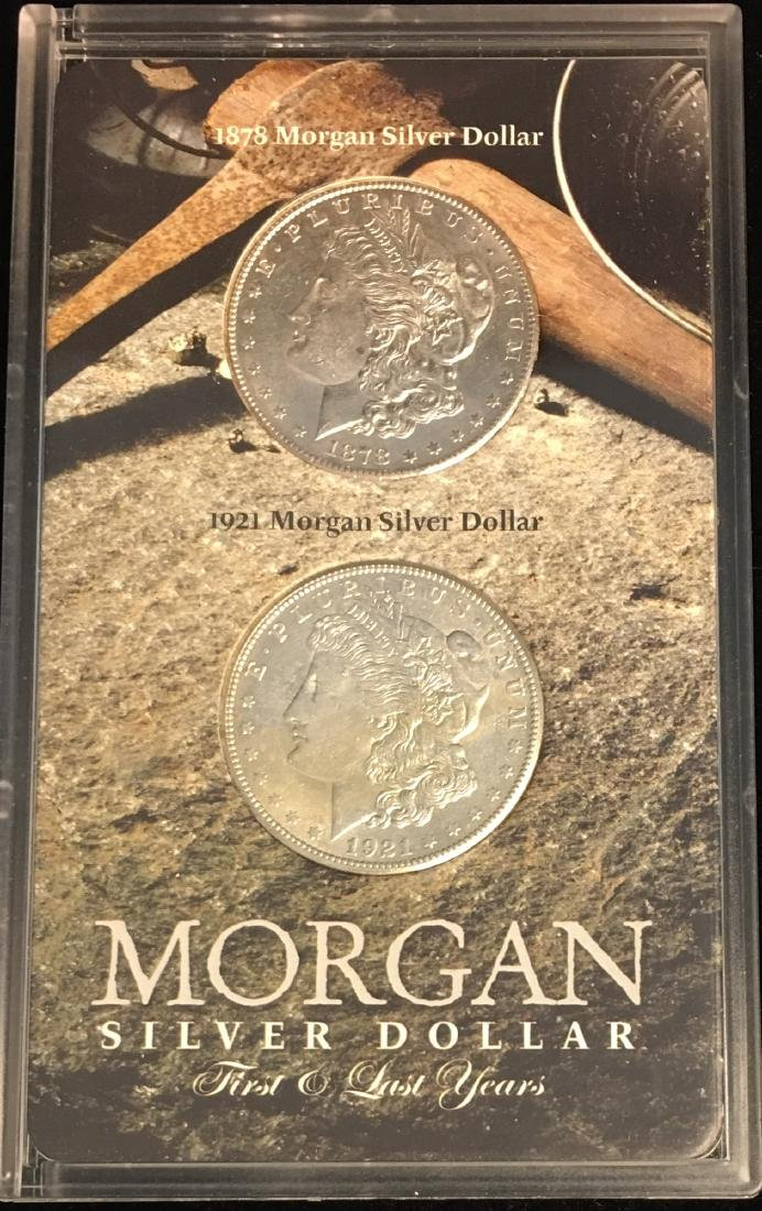 Morgan Silver Dollar First and Last Year - 1878-S and