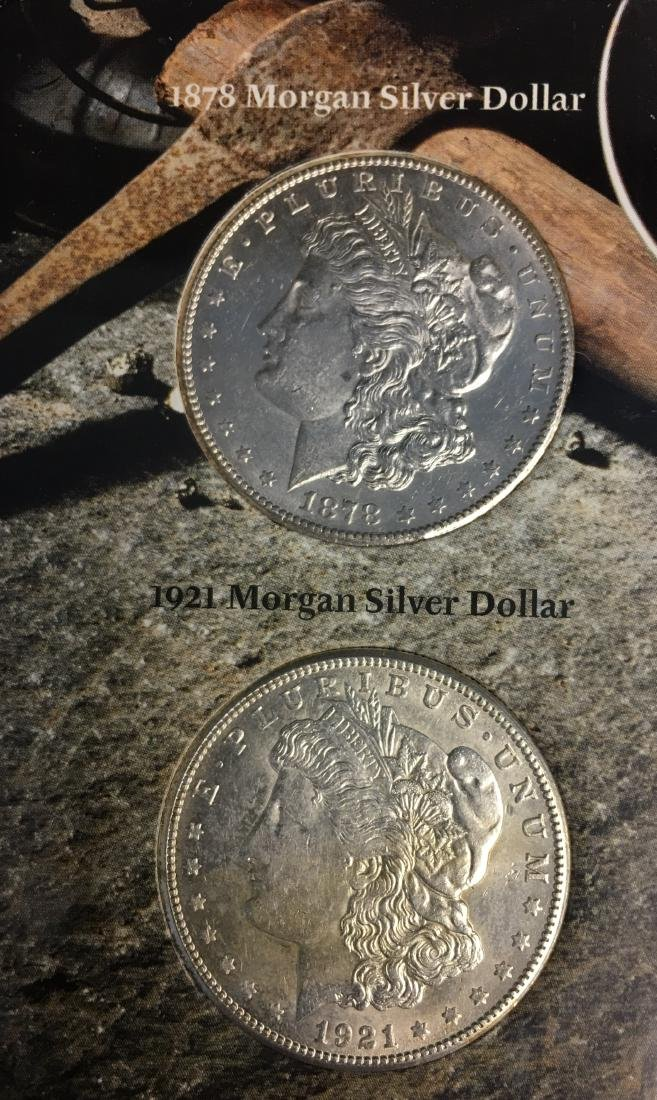 Morgan Silver Dollar First and Last Year - 1878-S and - 2