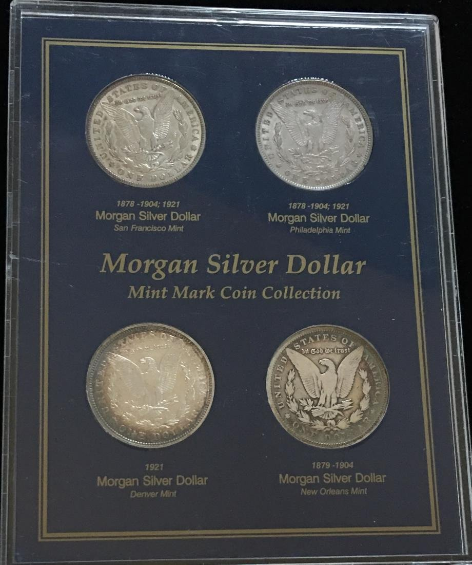 Morgan Silver Dollar Mint Mark Coin Collection  - - 2