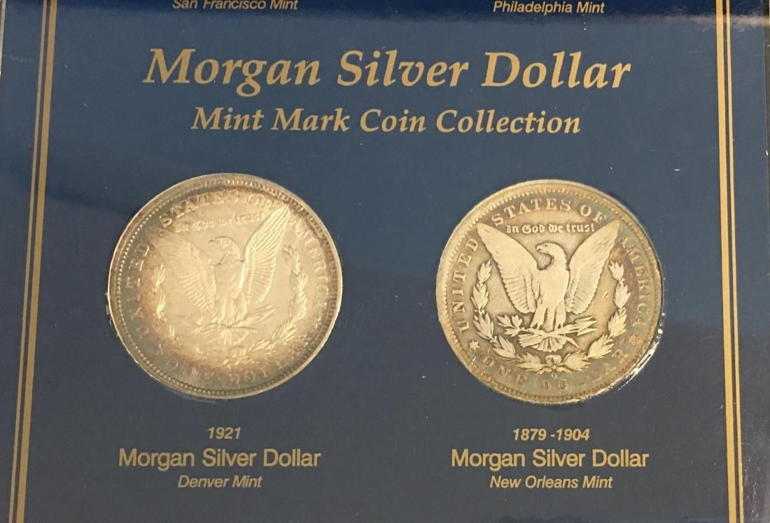 Morgan Silver Dollar Mint Mark Coin Collection  - - 5