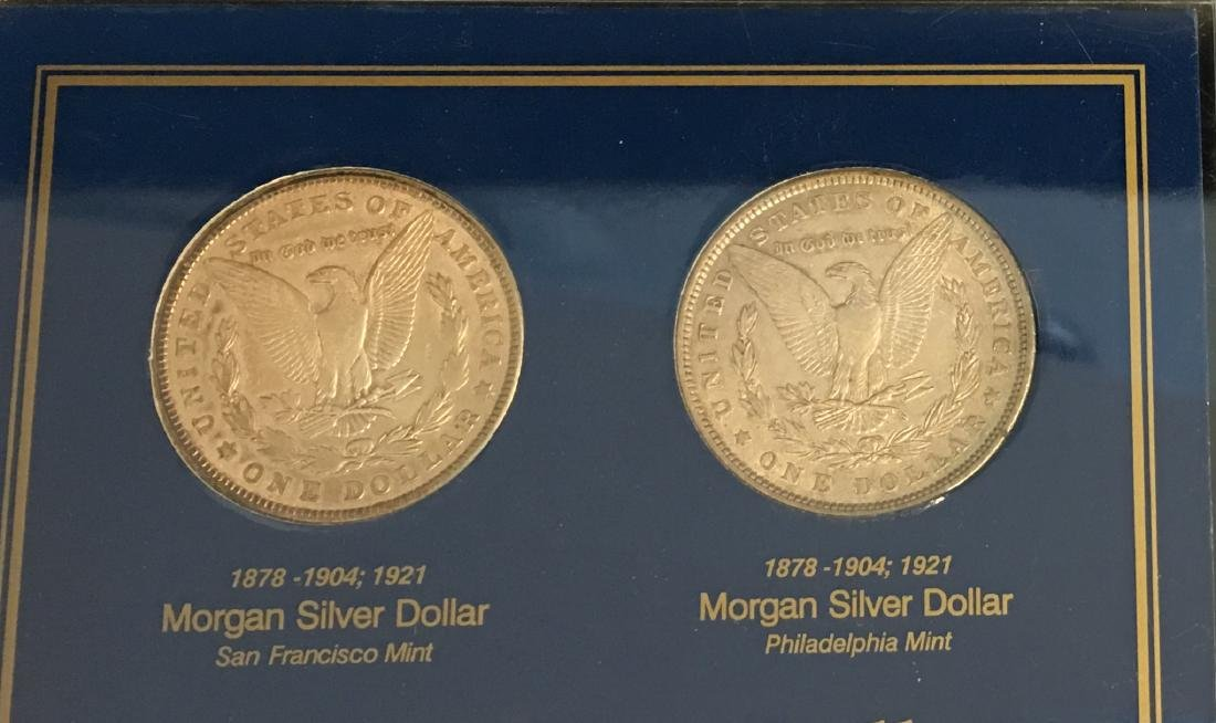 Morgan Silver Dollar Mint Mark Coin Collection  - - 6