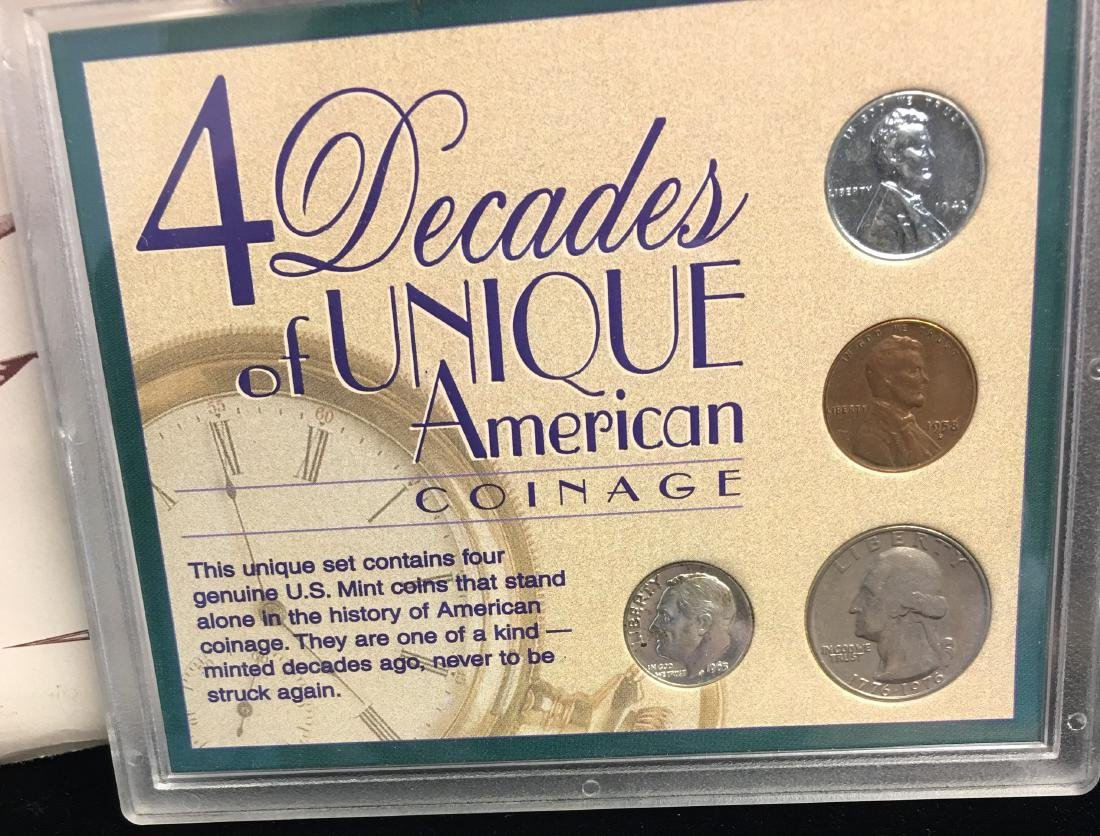 Set of 2 Lots: Veterans Memorial Coin Collection & 4 - 4