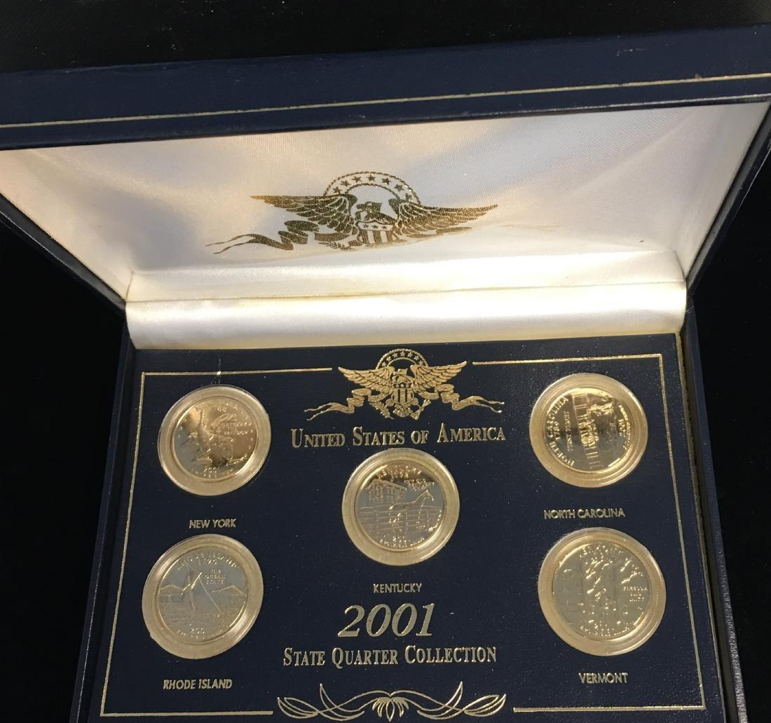 Set of 3 - 2001-2003 State Quarter Collection Sets - 2