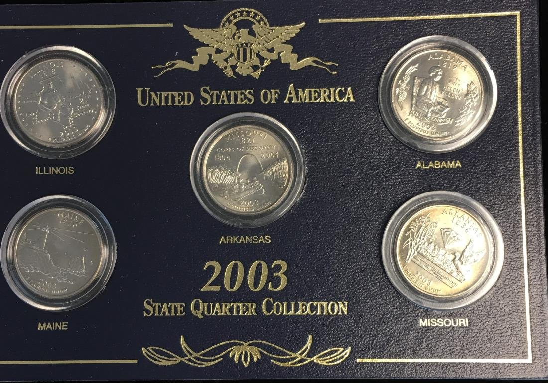 Set of 3 - 2001-2003 State Quarter Collection Sets - 7