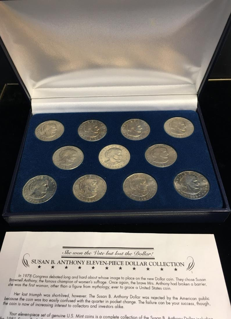 Susan B. Anthony Eleven-Piece Dollar Collection
