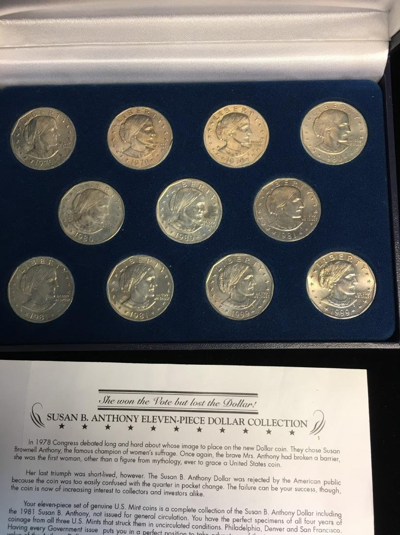 Susan B. Anthony Eleven-Piece Dollar Collection - 2