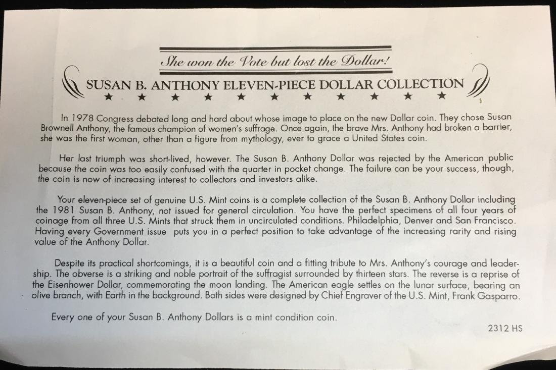 Susan B. Anthony Eleven-Piece Dollar Collection - 3