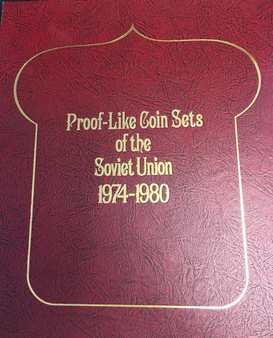 Proof Like Coin Sets of The Soviet Union 1974-1977 USSR
