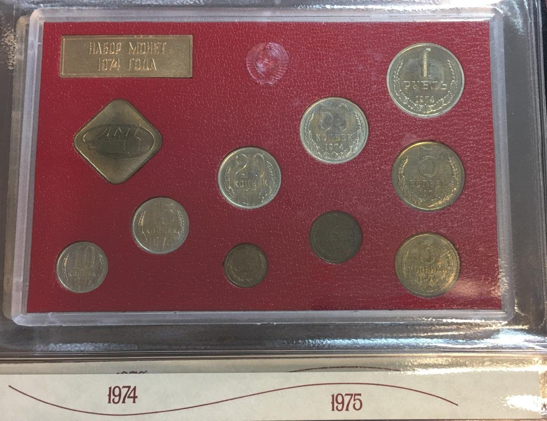 Proof Like Coin Sets of The Soviet Union 1974-1977 USSR - 2