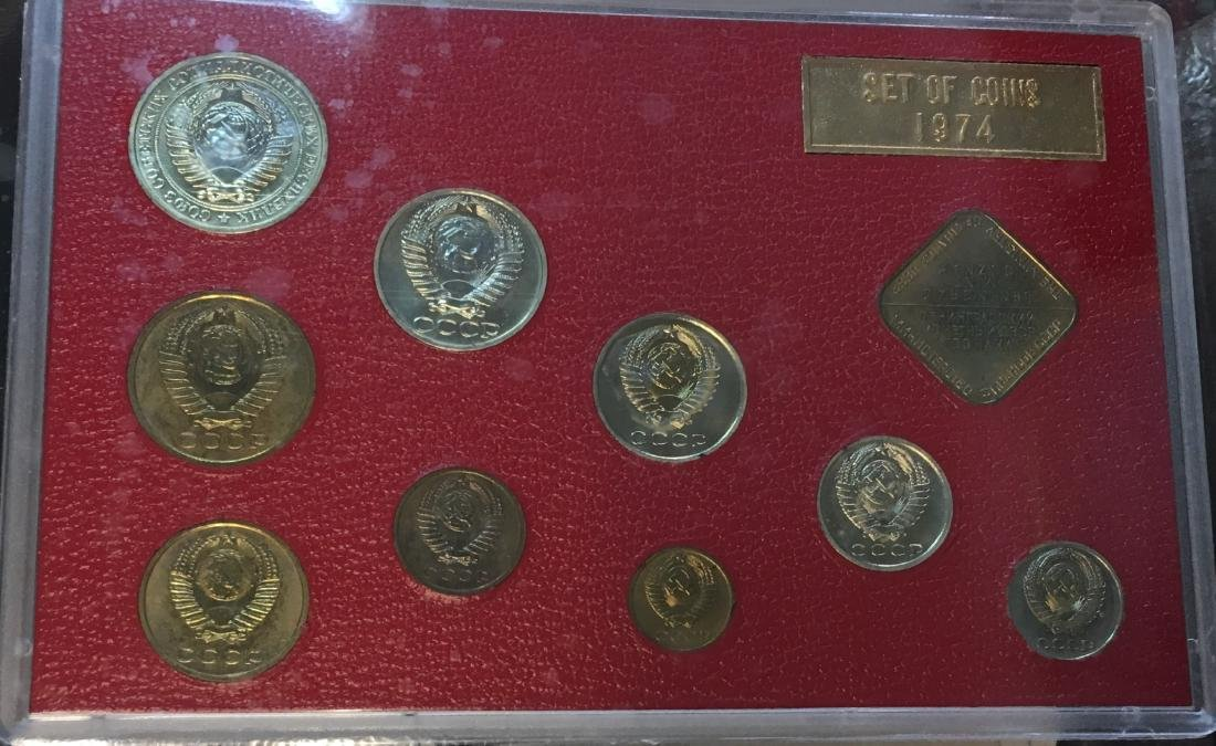 Proof Like Coin Sets of The Soviet Union 1974-1977 USSR - 5