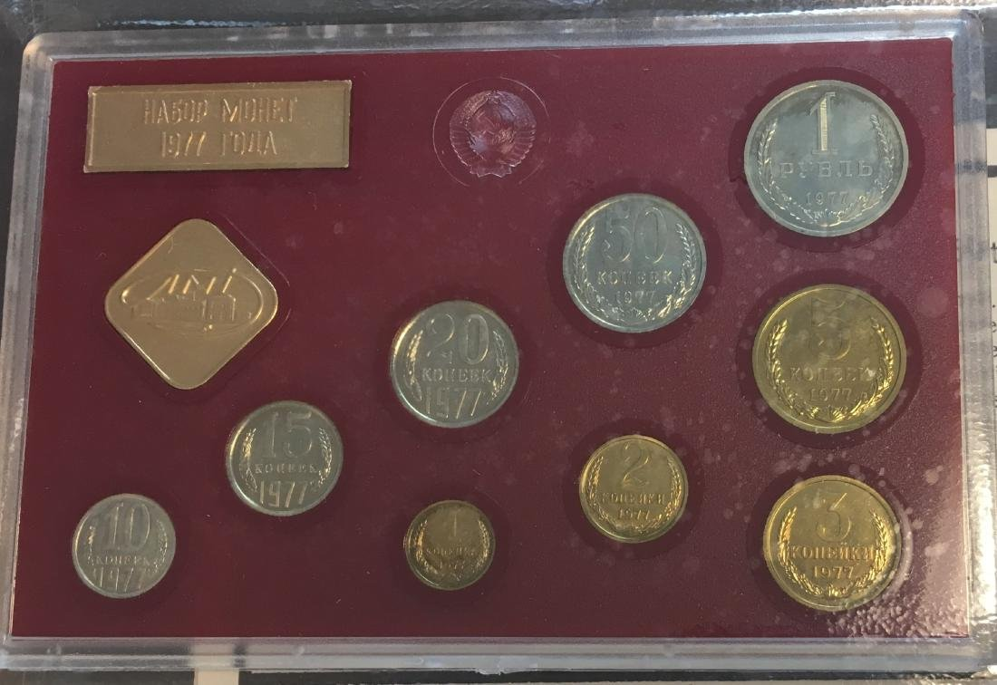 Proof Like Coin Sets of The Soviet Union 1974-1977 USSR - 7