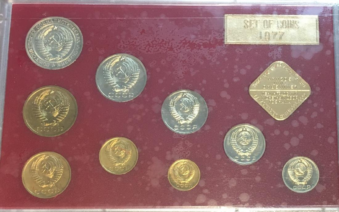 Proof Like Coin Sets of The Soviet Union 1974-1977 USSR - 9