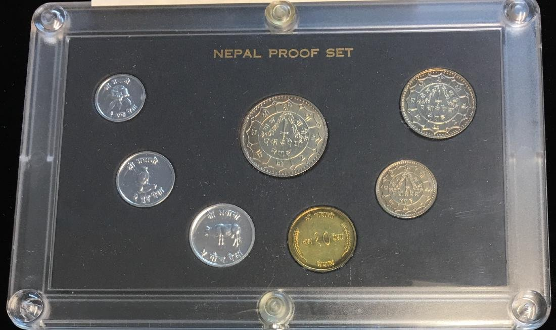 1974 Nepal Proof Set of 7 coins