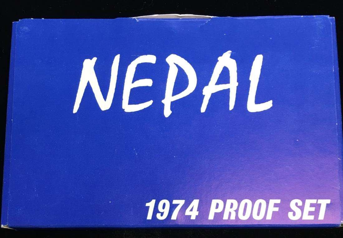 1974 Nepal Proof Set of 7 coins - 3