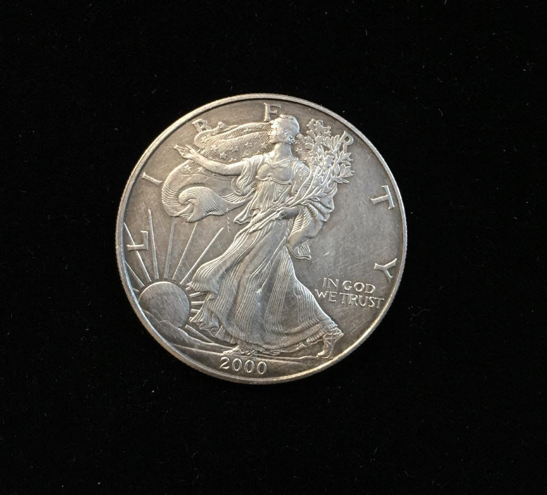2000 $1 American Silver Eagle 1oz Fine Silver