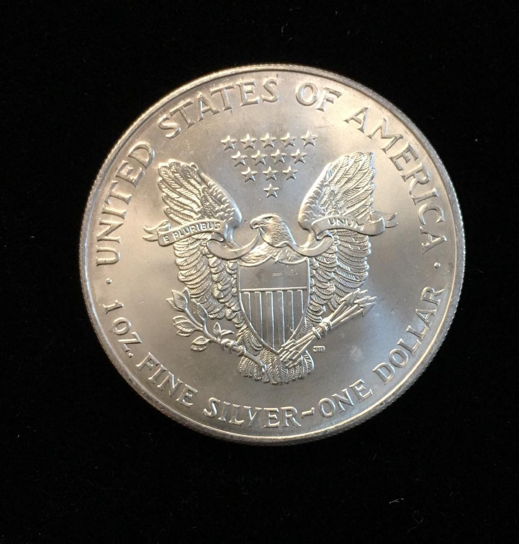 2001 $1 American Silver Eagle 1oz Fine Silver BU - 2