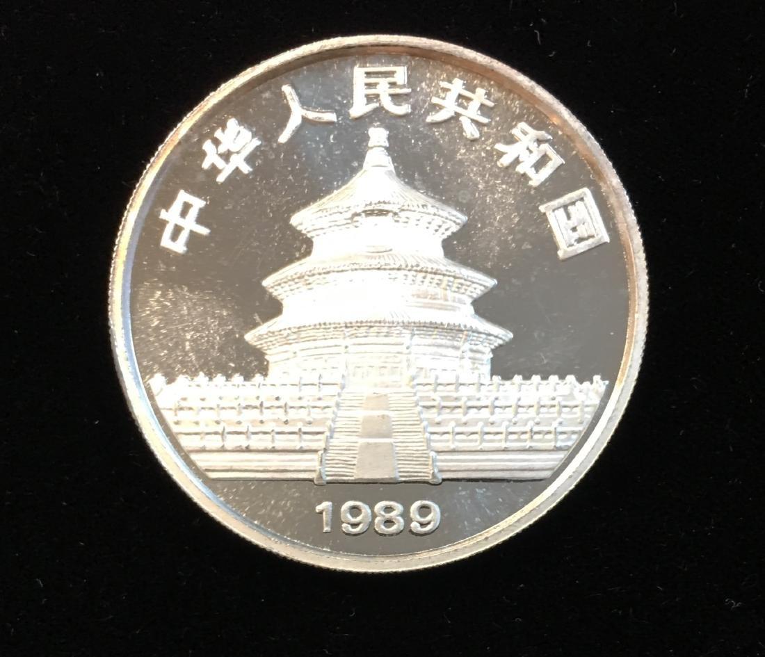1989 10 Yn China Panda 1oz .999 Silver Uncirculated