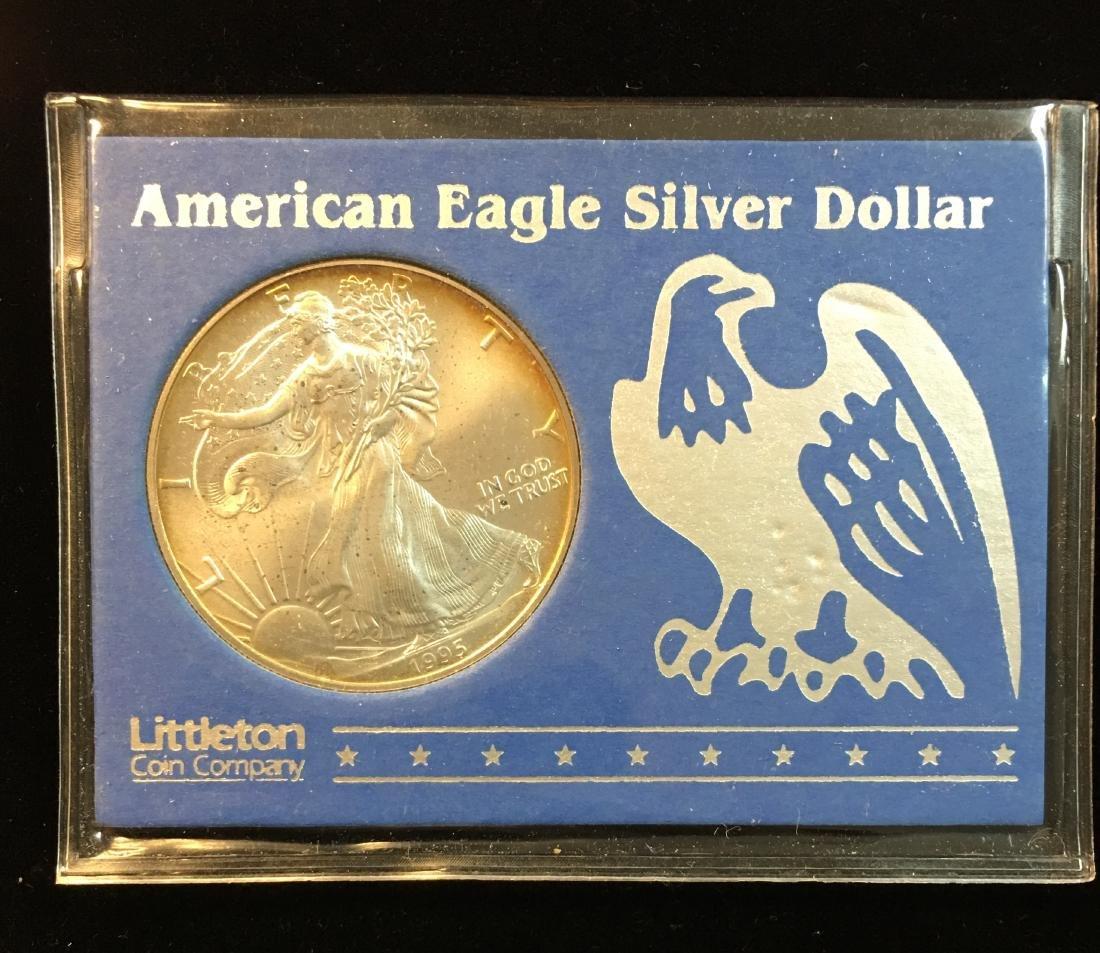 1995 American Silver Eagle Littleton Coin Company