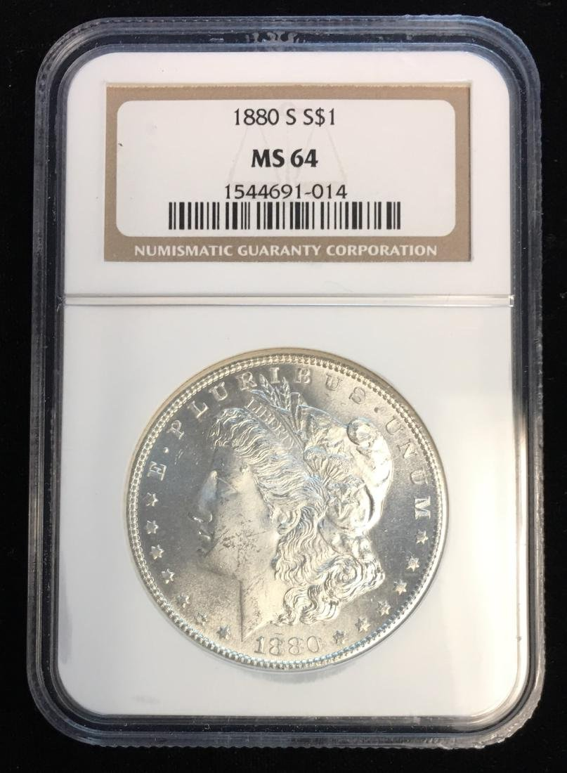 1880-S $1 Morgan Silver Dollar NGC MS64 White