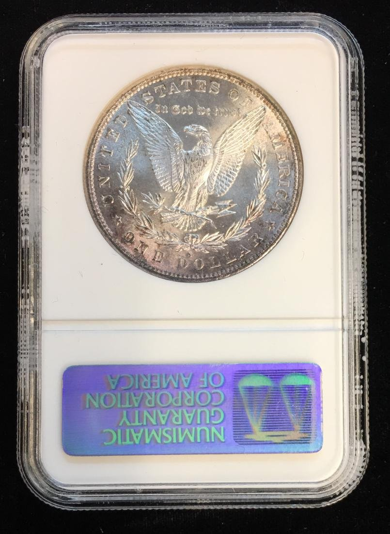 1881-S $1 Morgan Silver Dollar NGC MS64 Slightly Toned - 2