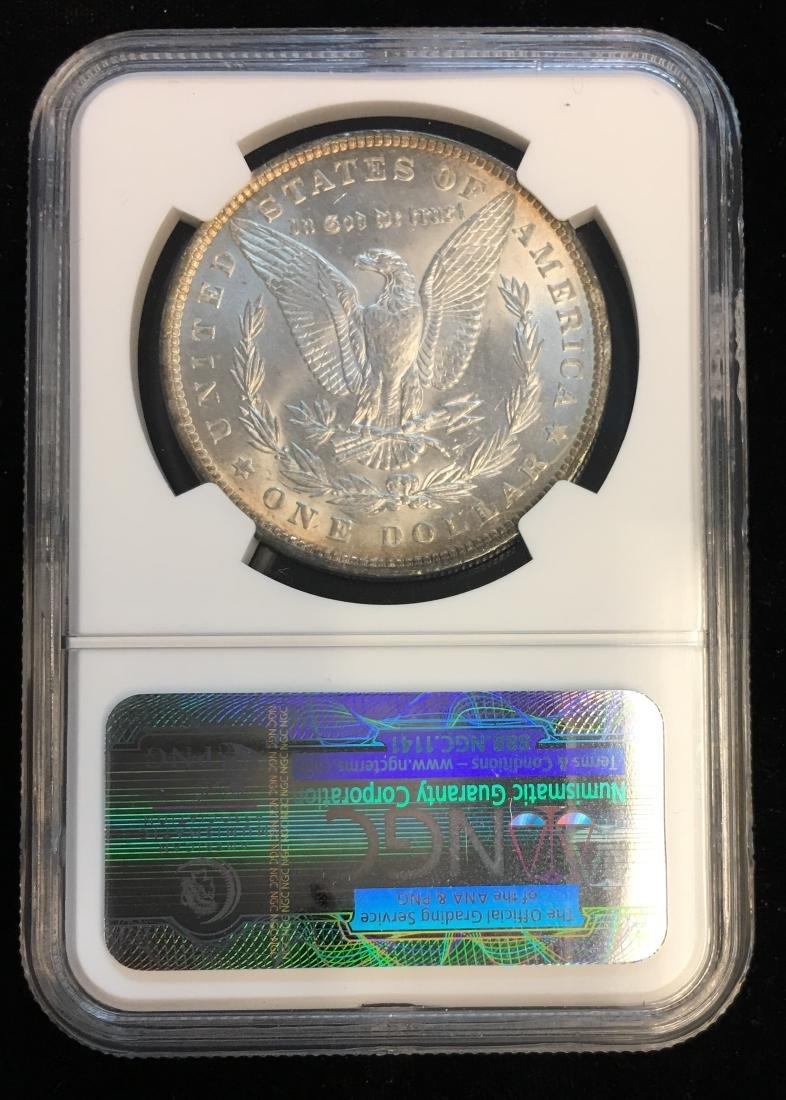 1889-P $1 Morgan Silver Dollar NGC MS63 Edge Toning - 2