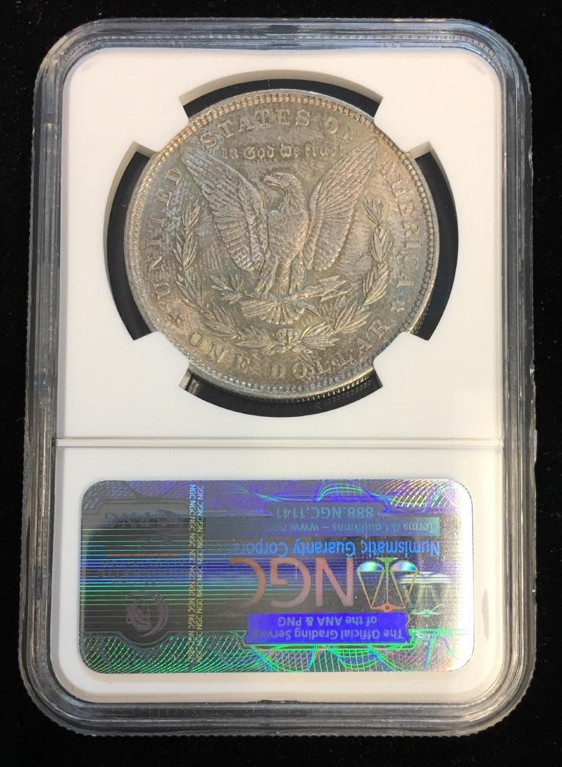 1896 $1 Morgan Silver Dollar NGC MS63 Beautiful Toning - 2