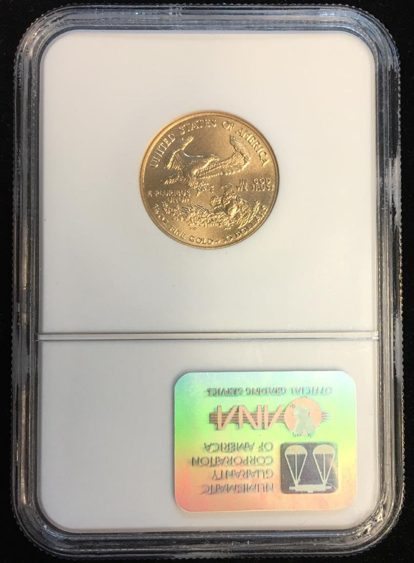 2003 $10 American Gold Eagle 1/4 oz Fine Gold NGC MS69 - 2
