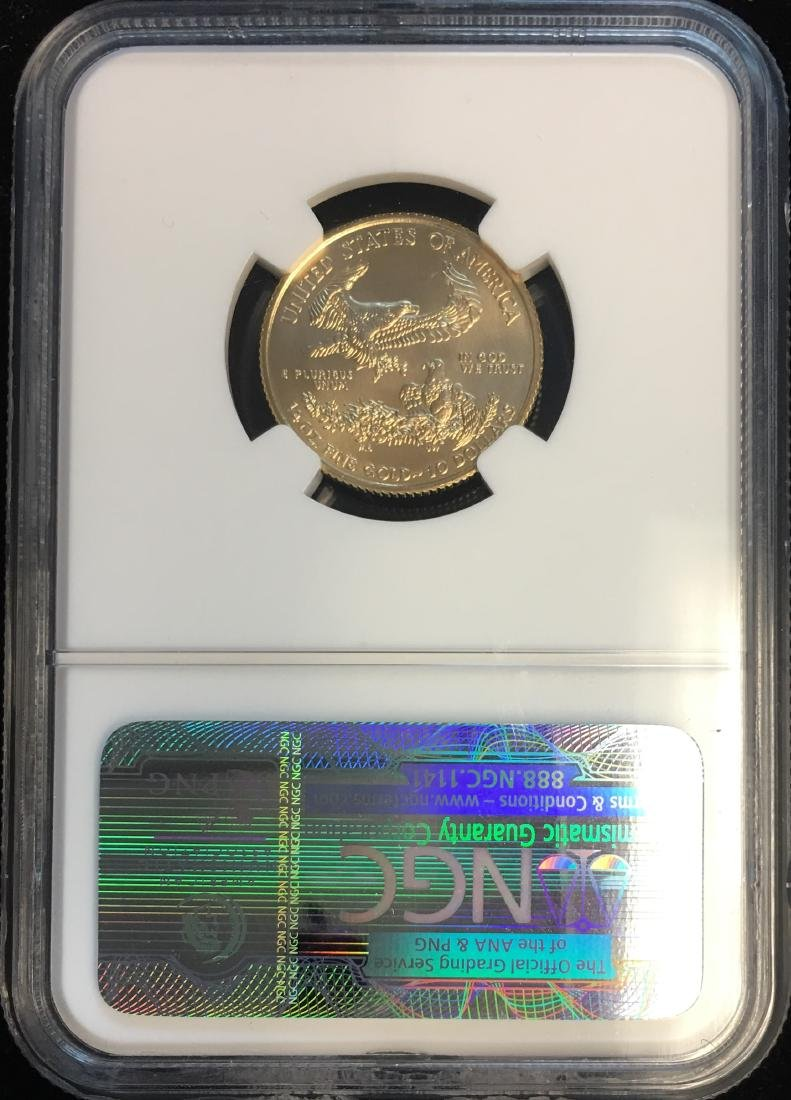 2009 $10 American Gold Eagle 1/4 oz Fine Gold Early - 2