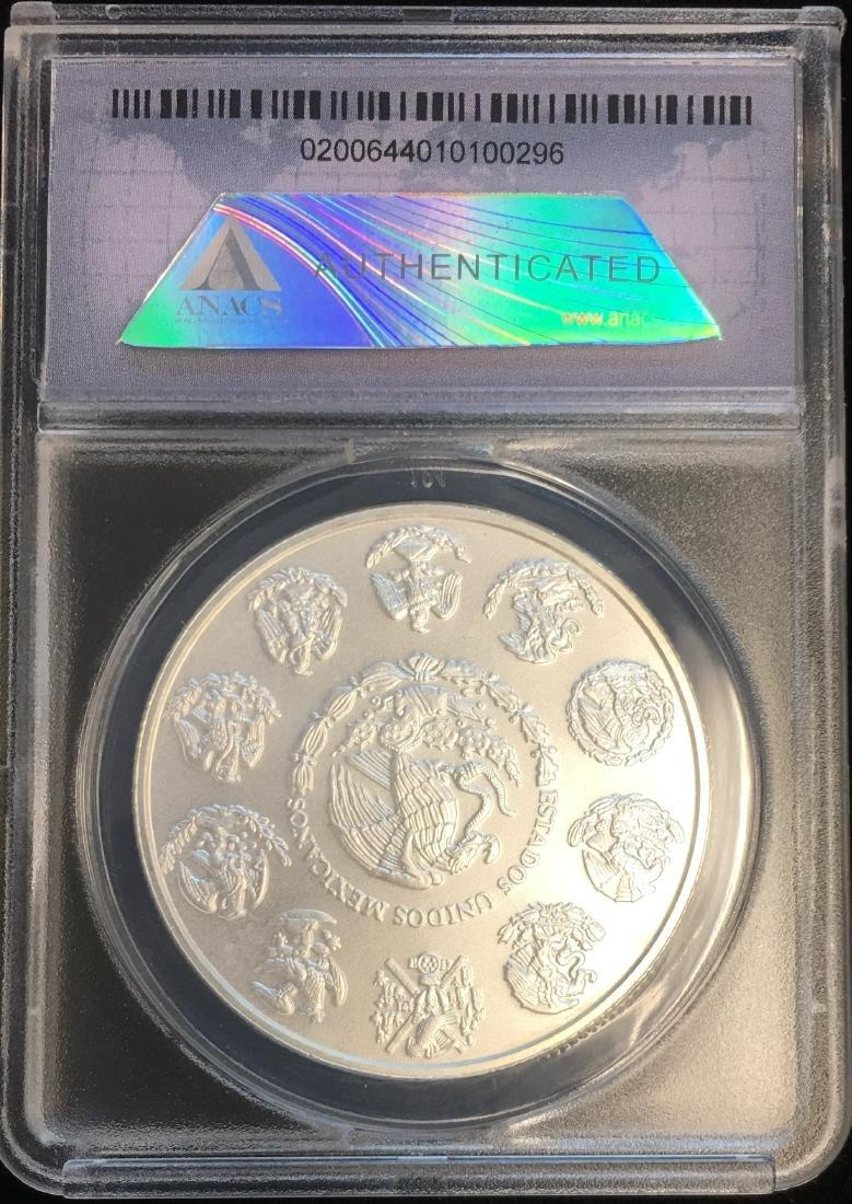 2013-Mo Mexico Libertad 1 oz .999 Silver ANACS MS70 - 2
