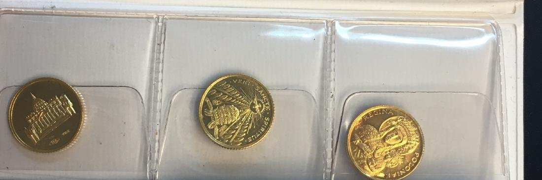 Set of 3 Vatican Medallions .750 Gold Proof - 2