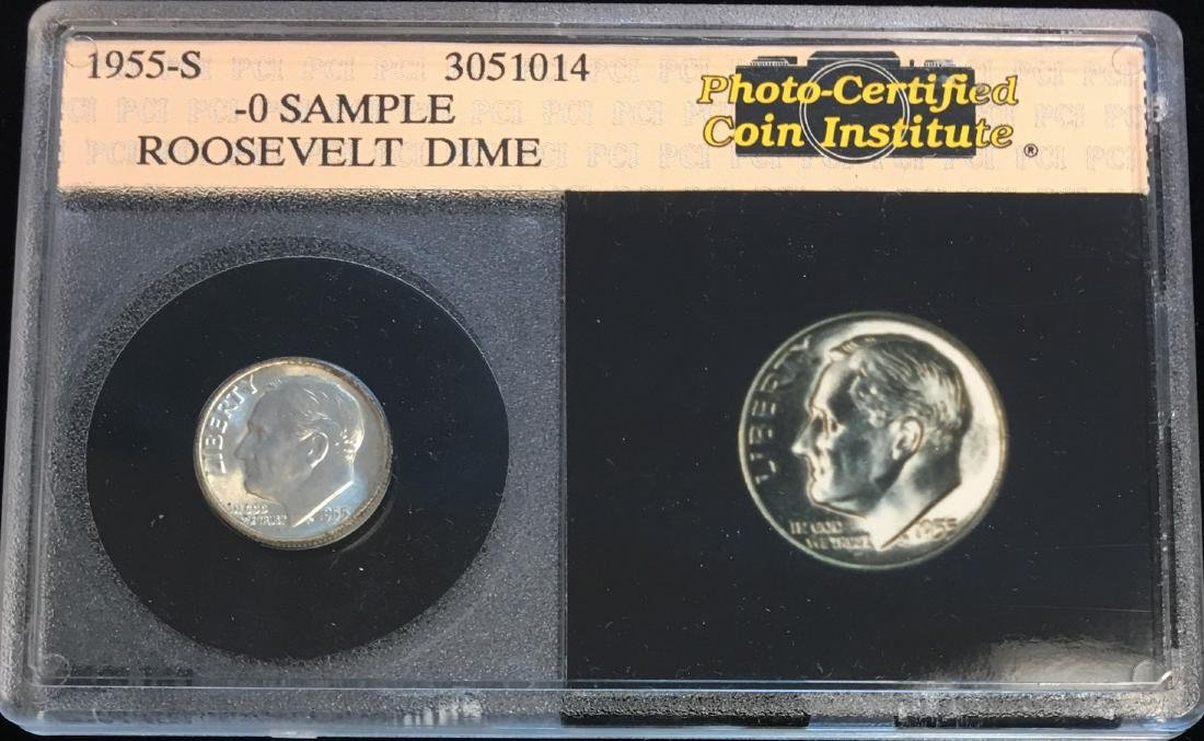1955-S 10C Roosevelt Dime in a Plastic Holder