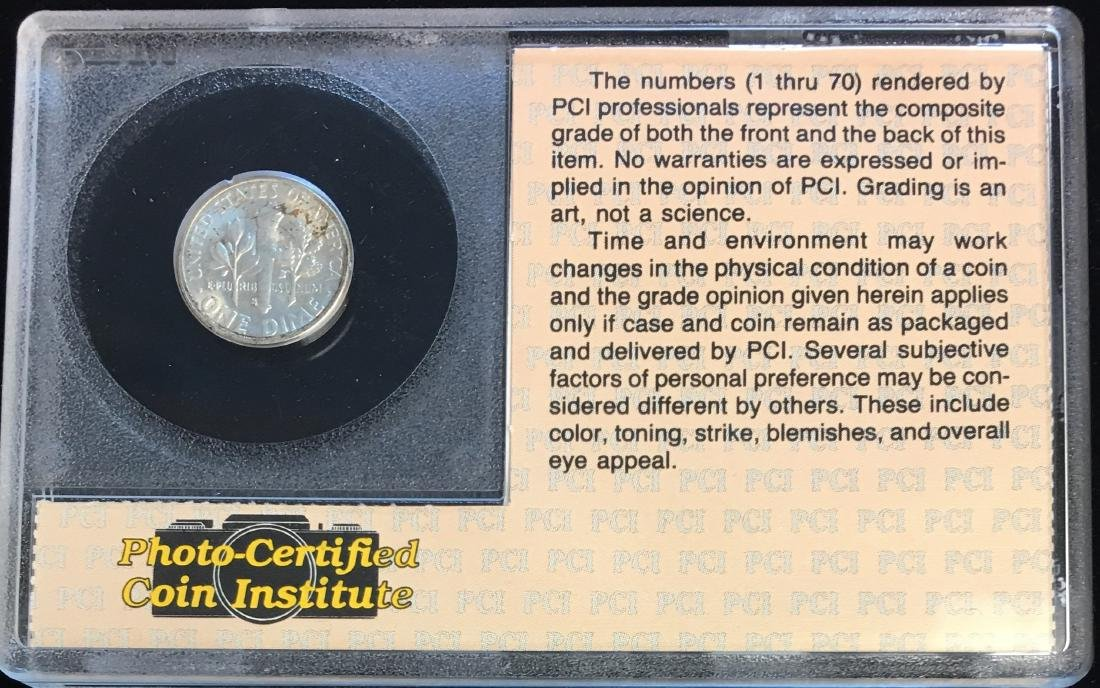 1955-S 10C Roosevelt Dime in a Plastic Holder - 2