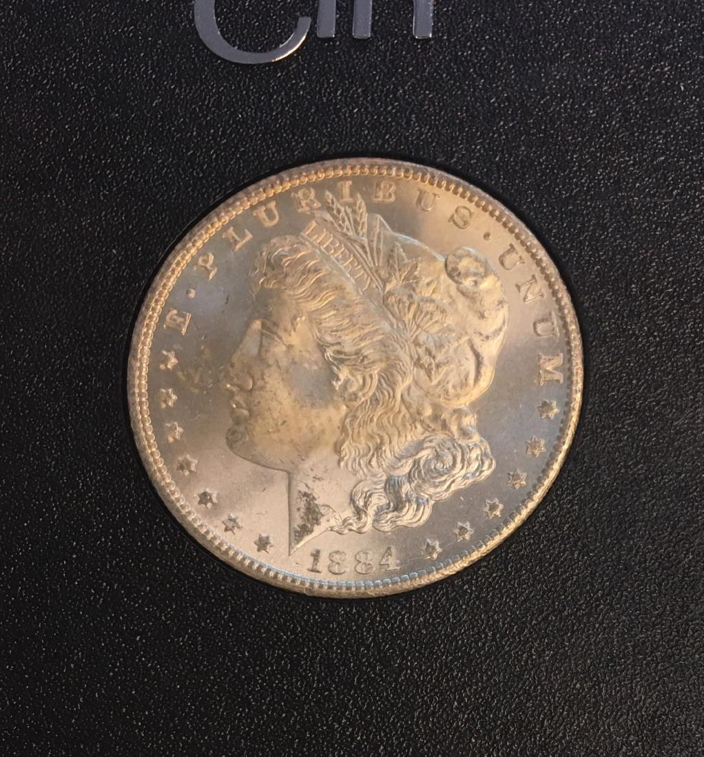 1884-CC $1 Morgan Silver Dollar ANACS MS64 - 2