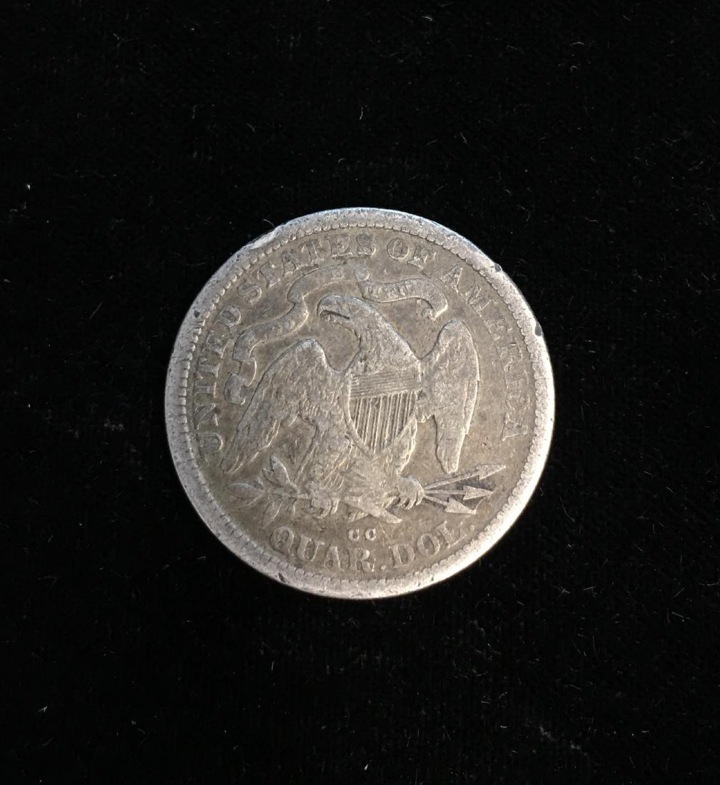 1876-CC 25C Liberty Seated Quarter Fine - 2