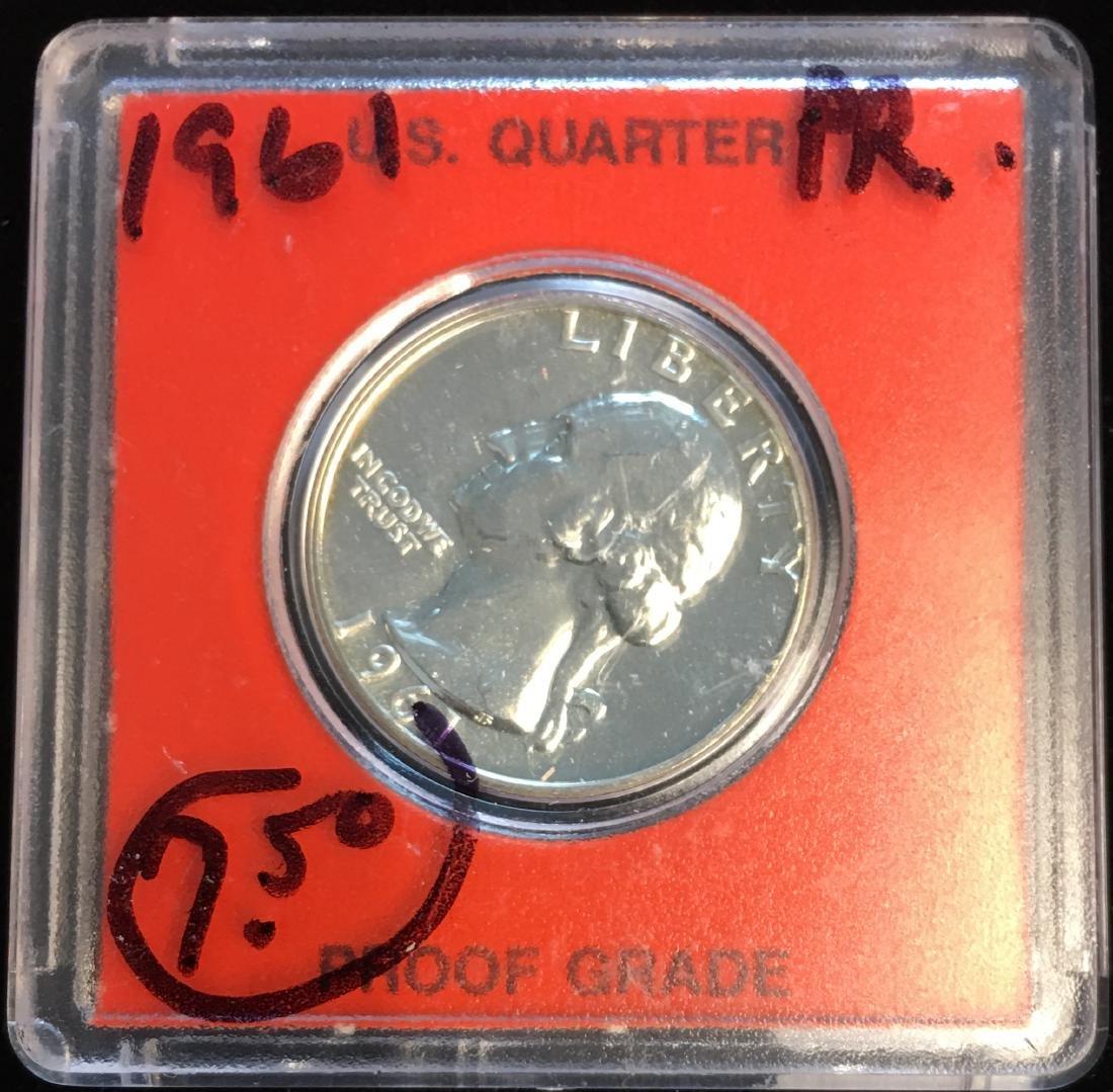 1961-P 25C Washington Silver Quarter Proof
