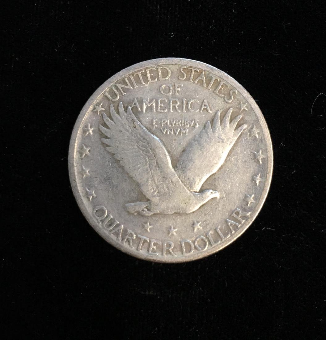 1917-S 25C Standing Liberty Silver Quarter Type II - VG - 2
