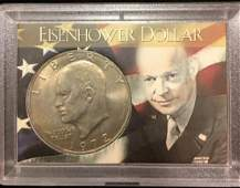 1972 $1 Eisenhower Dollar BU by H.E. Harrison & Co.
