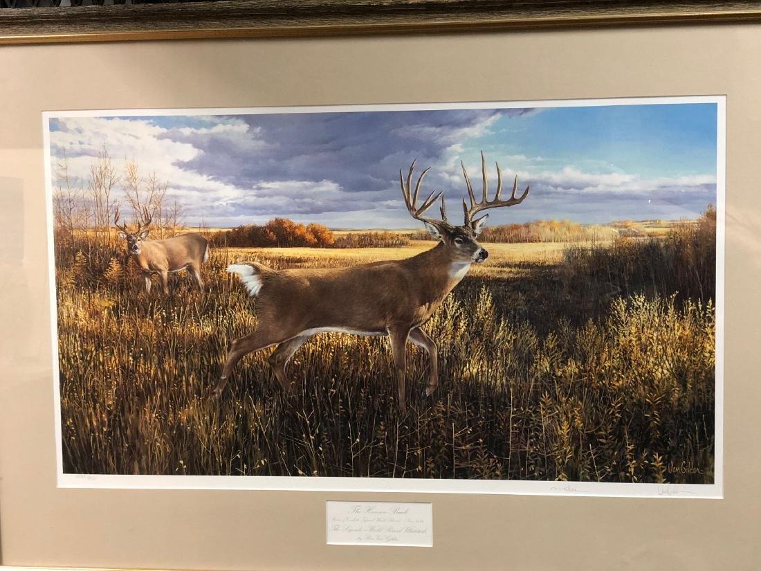 The Hanson Buck Framed art work by Ron Van Gilder #4952