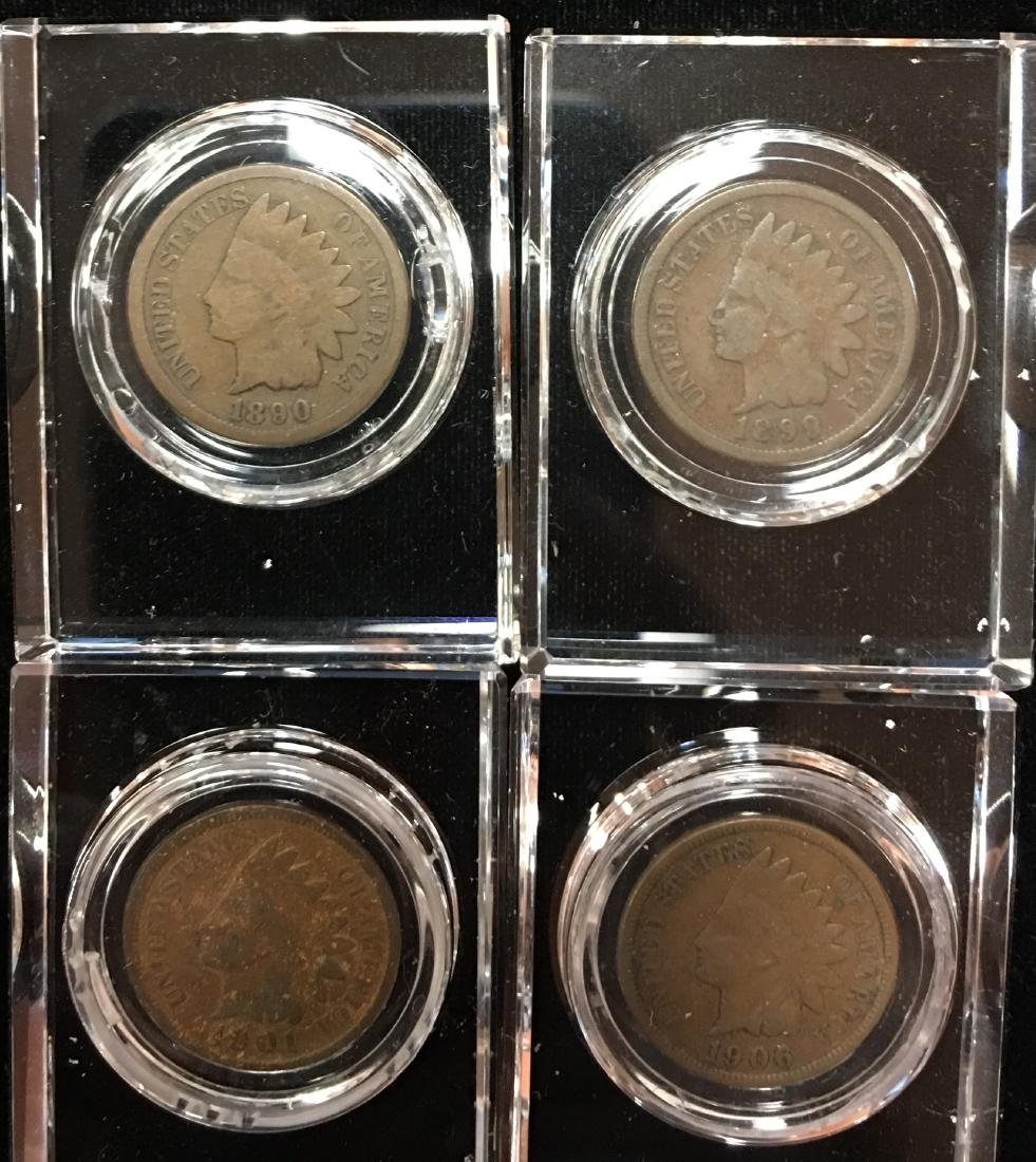 Indian Cents inside of Glass D�cor for any Desk - 6