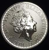 2000 Great Britain 2 Pounds Silver Brittania 1 oz Fine