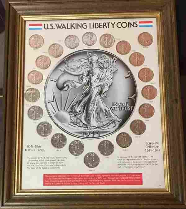 U.S. Walking Liberty Coins 1941-1947 90% Silver in a