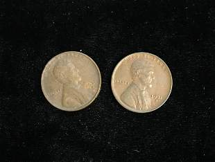 Set of 2 - 1931-D 1c Lincoln Cents VF-XF