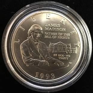 1993-W 50c Bill of Rights Modern Commemorative Silver