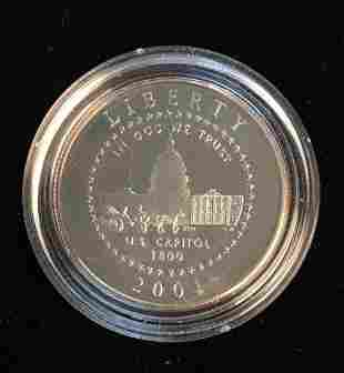 2001-P 50c U.S.Capitol Visitor Center Commemorative