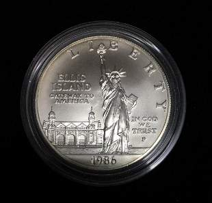 1986-P $1 Statue of Liberty Commemorative Silver Dollar