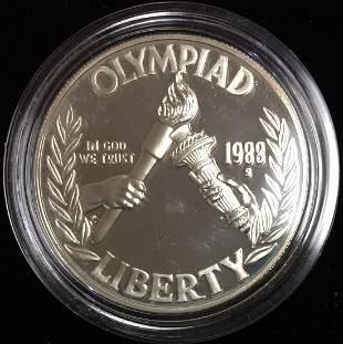 1988-S $1 Seoul Olympiad Commemorative Silver Dollar