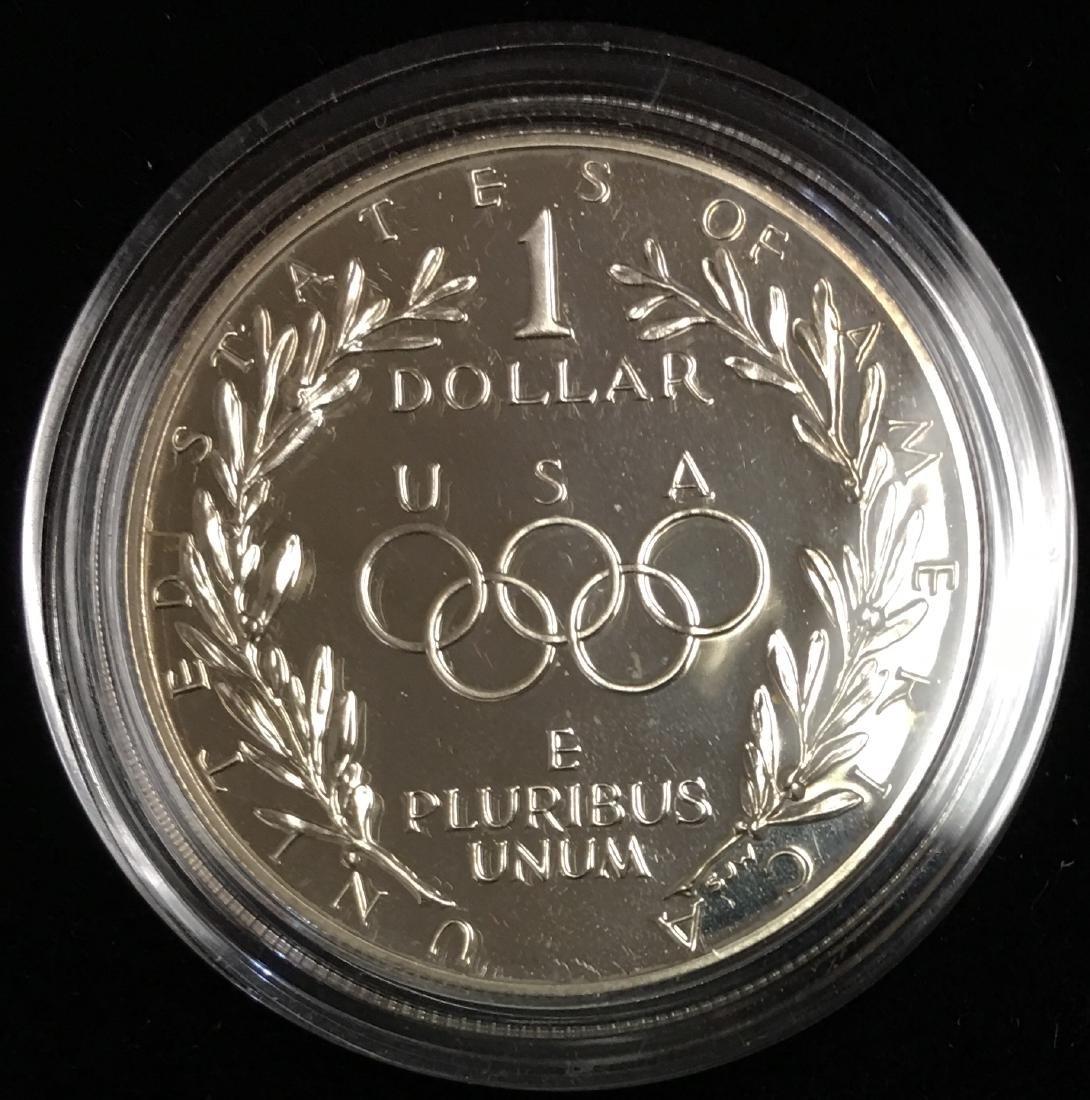 1988-S $1 Seoul Olympiad Commemorative Silver Dollar - 2