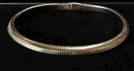 """14k Yellow Gold Tiffany Necklace   9.50 mm  16 """""""