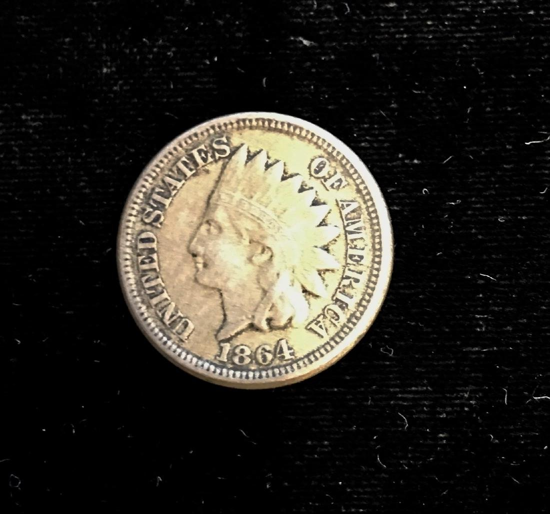 1864 1C Indian Head Cent XF